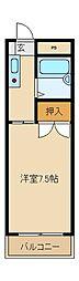 第三フレックスマンション[1階]の間取り