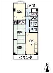 ファミールうすずみ[2階]の間取り