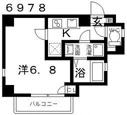 オーシャン青山[301号室号室]の間取り