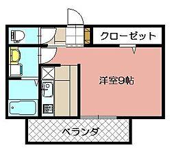 エルカーサ門司駅前[202号室]の間取り