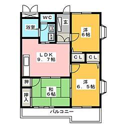 エクセレントコート[2階]の間取り