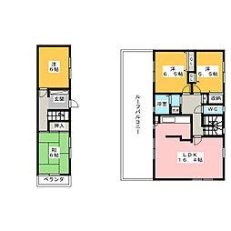 八事表山住宅2号館[2階]の間取り