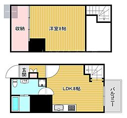 SONIX 2015 4階1LDKの間取り