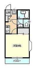 神奈川県相模原市南区御園5丁目の賃貸アパートの間取り