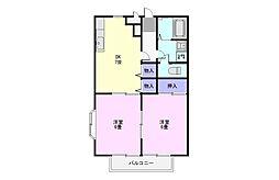コンフォート川越[1階]の間取り