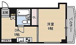 十四ビル[4階]の間取り