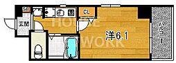 エステムプラザ京都五条大橋[603号室号室]の間取り