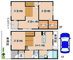 [テラスハウス] 兵庫県神戸市東灘区岡本9丁目 の賃貸【/】の間取り
