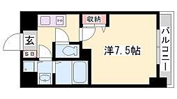 兵庫県神戸市須磨区南町1丁目の賃貸マンションの間取り