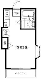 ペンシルハウス[2A号室号室]の間取り