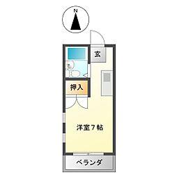 南建コーポ高田本山[405号室]の間取り