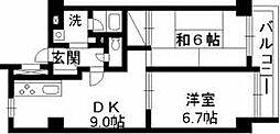 KSハイツ南浦和[1階]の間取り