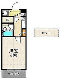 ステージハウス[204号室]の間取り