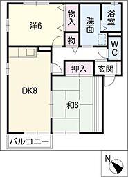 メゾン曙[2階]の間取り