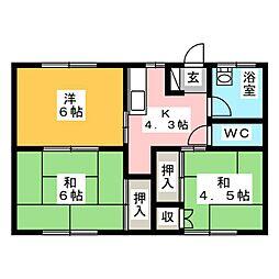福永荘[2階]の間取り