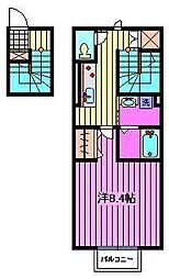 メゾンリエール[2階]の間取り