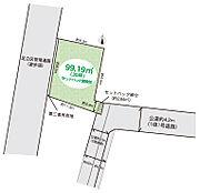 東武伊勢崎線「梅島」駅徒歩15分土地99.19( 建築条件なし。公道東2.9m、更地渡し )子育て環境良好閑静な住宅街。是非、お問合せください。