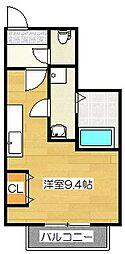 福岡県筑紫野市二日市中央3丁目の賃貸マンションの間取り