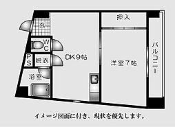 広島県広島市南区大須賀町の賃貸マンションの間取り