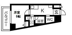 JR桜島線(ゆめ咲線) 西九条駅 徒歩7分の賃貸マンション 8階1Kの間取り