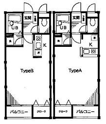 ポスト&ビーム木の家[D101号室]の間取り