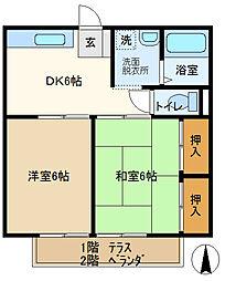 グリーン豊 202[2階]の間取り