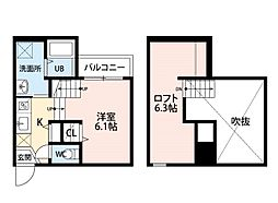 アステール吉塚[2階]の間取り