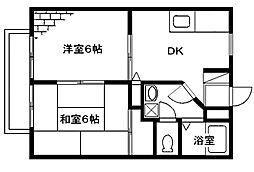 メゾンテヅカ A[101号室号室]の間取り
