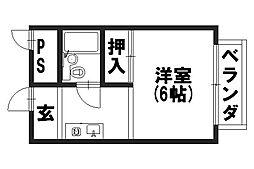 プチバサン[3-D号室]の間取り