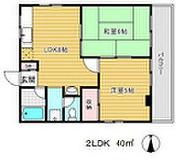 神谷マンション[5階]の間取り