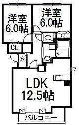 北海道札幌市中央区北三条東10丁目の賃貸マンションの間取り