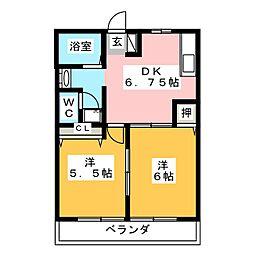 アフィニティーA[2階]の間取り