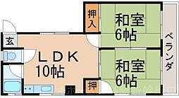 広島県広島市東区温品3丁目の賃貸マンションの間取り