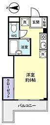 スターハイム勝田台[2階]の間取り