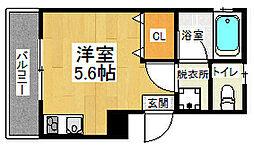 京阪本線 伏見稲荷駅 徒歩1分の賃貸アパート 2階1Kの間取り
