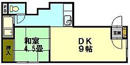 クリエイト21[3階]の間取り