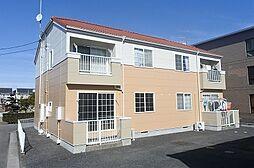 群馬県伊勢崎市昭和町の賃貸アパートの外観