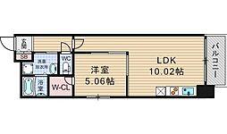 コンソラーレ桜川V[6階]の間取り