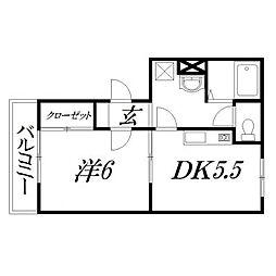 静岡県浜松市中区鴨江1丁目の賃貸マンションの間取り