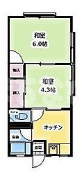 東京都江戸川区一之江6丁目の賃貸アパートの間取り