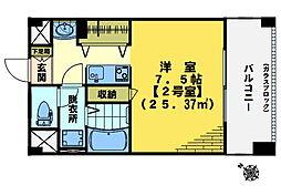 東中野エイトワンマンション[703号室]の間取り