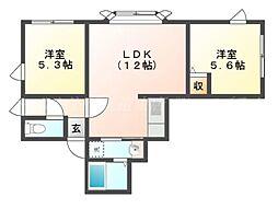 ウイング42[3階]の間取り