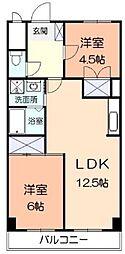 大谷マンション[2階]の間取り