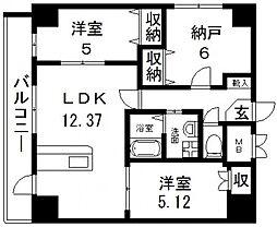 HERITAGR(ヘリテージ)高井田[706号室号室]の間取り