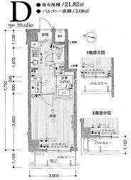 パークウェル渋谷本町[2階]の間取り