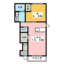 オークウッドガーデン〜OAK WOOD GARDEN[1階]の間取り
