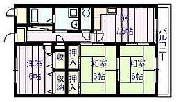 サニープレイス・アオヤマ[4階]の間取り