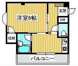 メゾン芥川[2階]の間取り