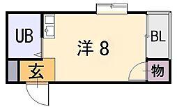 シャイン西上小阪[1階]の間取り