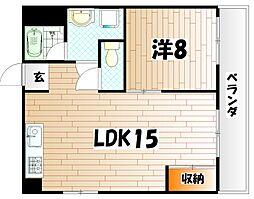 マキシム苅田[5階]の間取り